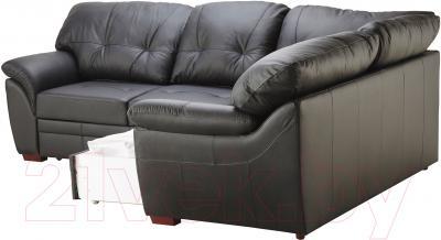 Угловой диван-кровать Ikea Бьербу 102.226.99 (черный) - выдвижной ящик