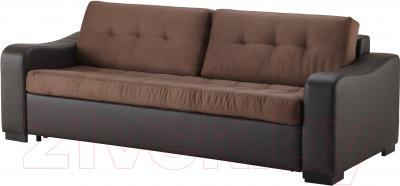 Диван-кровать Ikea Лиарум 203.003.33 (коричневый/темно-коричневый)
