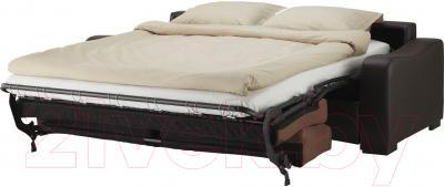 Диван-кровать Ikea Лиарум 203.003.33 (коричневый/темно-коричневый) - в разложенном виде