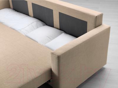 Диван-кровать Ikea Фрихетэн 203.014.55 (Шифтебу бежевый) - ящик для хранения белья