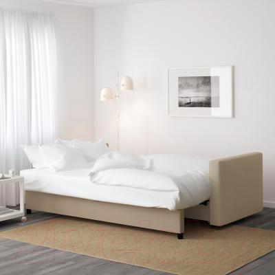 Диван-кровать Ikea Фрихетэн 203.014.55 (Шифтебу бежевый) - в разложенном виде