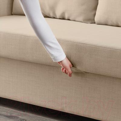 """Диван-кровать Ikea Фрихетэн 203.014.55 (Шифтебу бежевый) - механизм трансформации """"еврокнижка"""""""