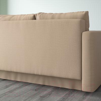 Диван-кровать Ikea Фрихетэн 203.014.55 (Шифтебу бежевый) - вид сзади