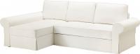 Чехол на диван - 3 местный Ikea Баккабру 203.233.96 (белый) -