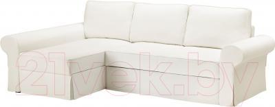 Чехол на диван - 3 местный Ikea Баккабру 203.233.96 (белый)