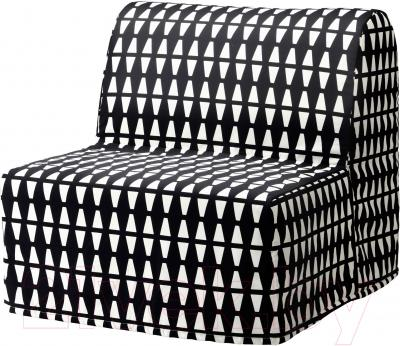 Чехол на кресло-кровать Ikea Ликселе 203.245.79 (черный/белый)