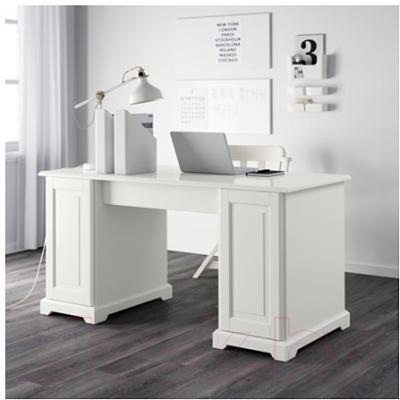 Письменный стол Ikea Лиаторп 301.036.76 (белый)