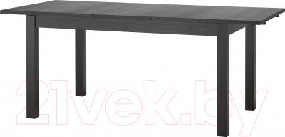 Обеденный стол Ikea Бьюрста 301.162.64 (коричнево-черный)
