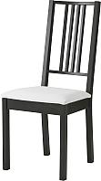 Стул Ikea Берье 301.168.48 (коричнево-черный/белый) -