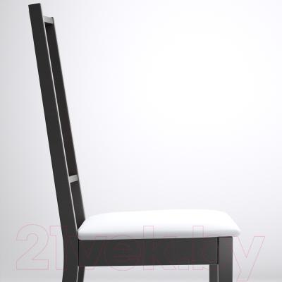 Стул Ikea Берье 301.168.48 (коричнево-черный/белый)