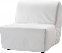 Чехол на кресло-кровать Ikea Ликселе 301.195.40 (белый) -
