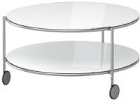 Журнальный столик Ikea Стринд 301.571.03 (белый, никелированный) -