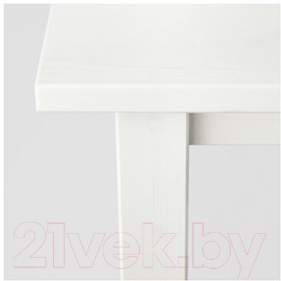 Журнальный столик Ikea Хемнэс 301.762.86 (белая морилка/белый)
