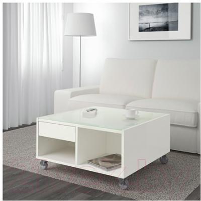Журнальный столик Ikea Буксэль 302.071.55 (белый)