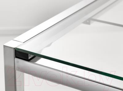 Обеденный стол Ikea Гливарп 302.175.26 (прозрачный, хромированный)