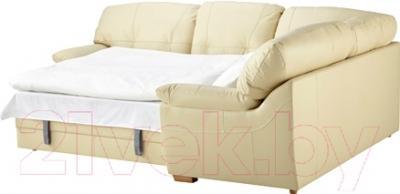 Угловой диван-кровать Ikea Бьербу 302.226.98 (бежевый)