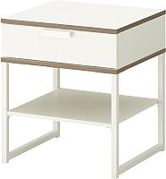 Прикроватная тумба Ikea Трисил 302.360.25 (белый/светло-серый) -