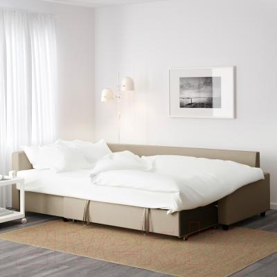 Угловой диван-кровать Ikea Фрихетэн 302.430.35 (Шифтебу бежевый)