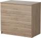 Комод Ikea Тодален 302.558.39 (серый/коричневый) -