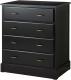 Комод Ikea Ундредаль 302.937.42 (черный) -