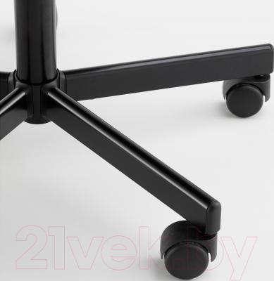 Кресло офисное Ikea Севальд 302.940.96 (черный/серый) - колесики автоматически блокируются, когда стул не используется