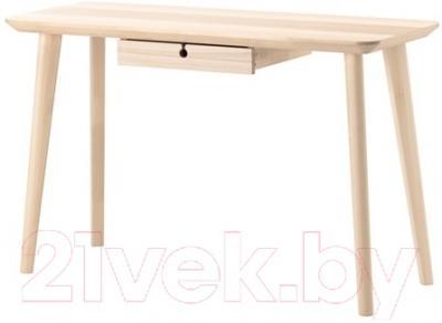 Письменный стол Ikea Лисабо 302.990.70 (ясеневый шпон)