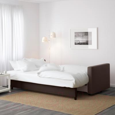 Диван-кровать Ikea Фрихетэн 303.006.91 (Шифтебу коричневый) - в разложенном виде