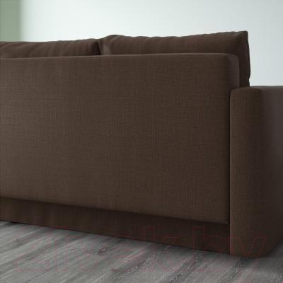 Диван-кровать Ikea Фрихетэн 303.006.91 (Шифтебу коричневый) - вид сзади