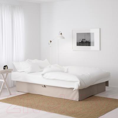 Диван-кровать Ikea Химмэне 303.007.14 (бежевый) - в разложенном виде