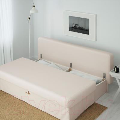 Диван-кровать Ikea Химмэне 303.007.14 (бежевый) - ящик для хранения белья