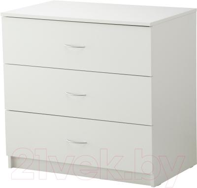 Комод Ikea Тодален 303.075.22 (белый)