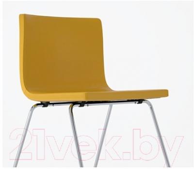 Стул Ikea Бернгард 102.462.14 (темно-желтый/хром)