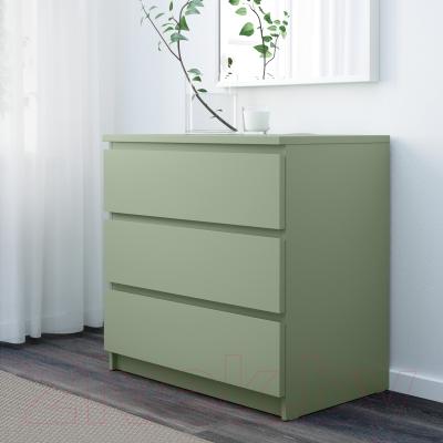 Комод Ikea Мальм 303.113.12 (светло-зеленый)