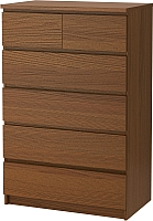 Комод Ikea Мальм 303.152.92 (коричневая морилка/ясеневый шпон) -