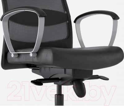 Кресло офисное Ikea Маркус 401.031.00 (черный) - вид спереди