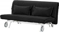 Чехол на диван - 2 местный Ikea ПС 101.848.00 (черный) -