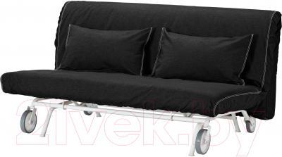 Чехол на диван - 2 местный Ikea ПС 101.848.00 (черный)