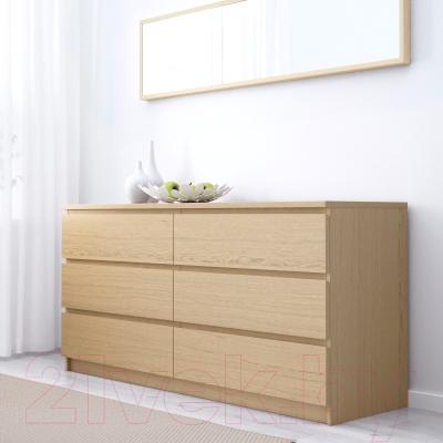 Комод Ikea Мальм 401.786.09 (дубовый шпон, беленый)