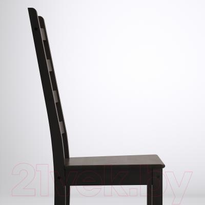 Стул Ikea Каустби 401.822.44 (коричнево-черный)