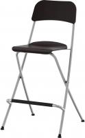 Стул Ikea Франклин 401.992.11 (коричнево-черный/серебристый) -
