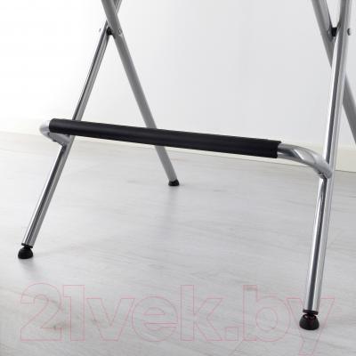 Стул Ikea Франклин 401.992.11 (коричнево-черный/серебристый)