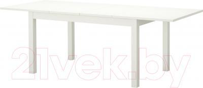 Обеденный стол Ikea Бьюрста 402.047.45 (белый)
