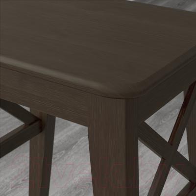 Табурет Ikea Ингольф 402.485.27 (коричнево-черный)