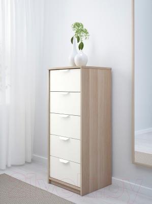 Комод Ikea Аскволь 402.708.20 (под беленый дуб/белый)