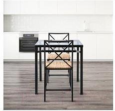 Обеденная группа Ikea Гранос 102.720.57 (черный/стекло)