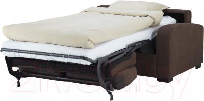 Диван-кровать Ikea Ингельстад 403.003.27 (Хенста темно-коричневый) - в разложенном виде