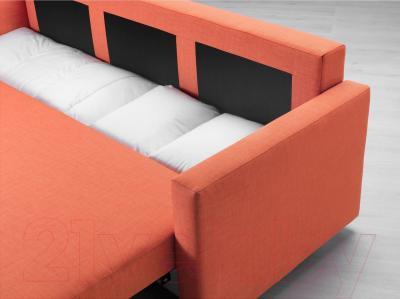 Диван-кровать Ikea Фрихетэн 403.007.23 (Шифтебу темно-оранжевый) - ящик для хранения белья