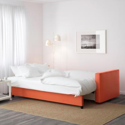 Диван-кровать Ikea Фрихетэн 403.007.23 (Шифтебу темно-оранжевый) - в разложенном виде