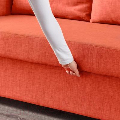 """Диван-кровать Ikea Фрихетэн 403.007.23 (Шифтебу темно-оранжевый) - механизм трансформации """"еврокнижка"""""""