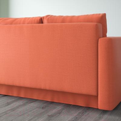 Диван-кровать Ikea Фрихетэн 403.007.23 (Шифтебу темно-оранжевый) - вид сзади